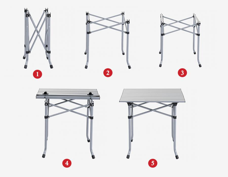 cách lắp ghép bàn ghế gấp