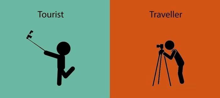 Cách chụp ảnh khác nhau của du khách và dân phượt -