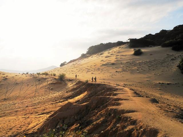 Đồi cát mênh mông trên đường ra Mũi Đôi (Ảnh. Hồ Đức Anh)