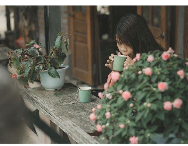 Những chậu hoa tạo nên khung cảnh lãng mạn, nhẹ nhàng. (Ảnh: changg.94)