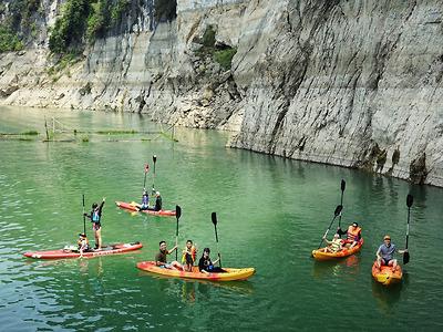 Kayak & Trek Tour (HB03) - Chèo kayak khám phá thiên đường Ba Khan