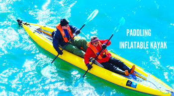 Chuẩn bị sẵn sàng trước chuyến chèo kayak bơm hơi