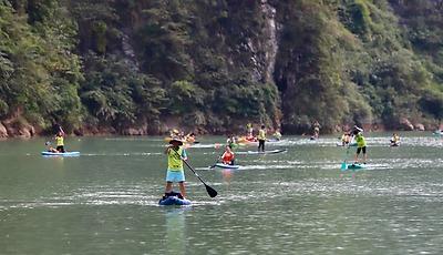 Lễ Hội Chèo SUP & Kayak Chinh Phục Hẻm Tu Sản Thu Hút Hàng Trăm Người Tham Gia