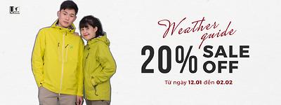 Sale 20% khi mua áo Weather Guide tại Umove