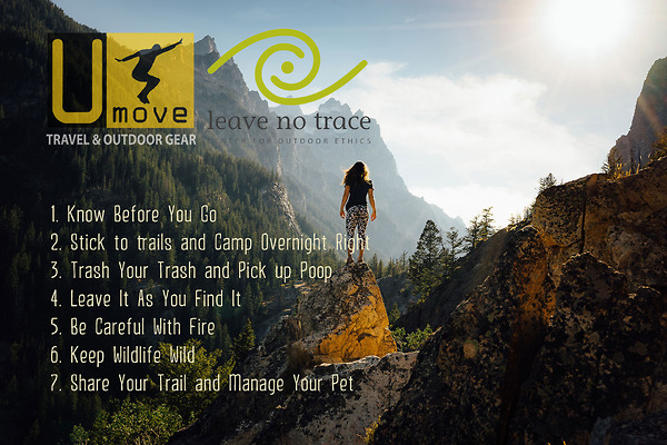 Umove Travel & Outdoor Gear ủng hộ The Leave No Trace Principles