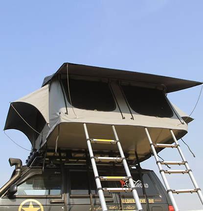 Lều gắn nóc ô tô Longroadcamp cho 4-5 người với hai thang