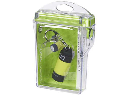 Móc Khoá Đèn Pin Usb Urban Gear Minilight, Yellow + Hộp Chống Nước Du Lịch Dã Ngoại Ut115Yel