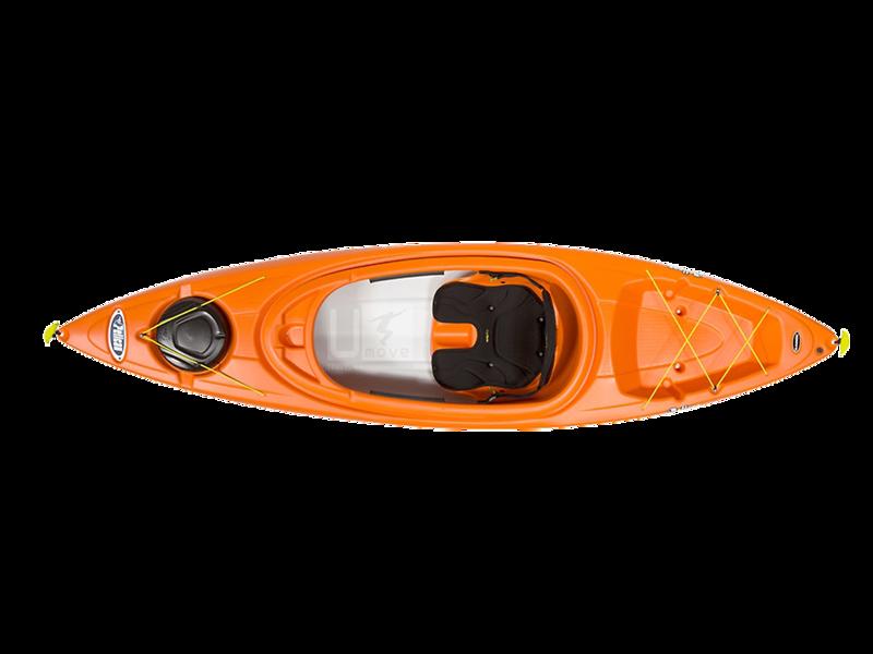 Thuyền Kayak composite Pelican Bounty 100X- Sit-in Kayak